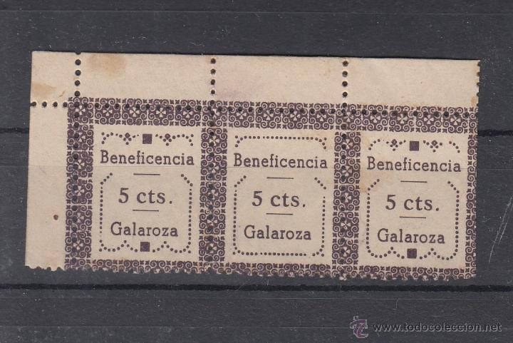 ,,LOCAL NACIONALISTA GALAROZA (HUELVA) 301 TIPO I, IB, II EN TRIO CON CHARNELA, (Sellos - España - Guerra Civil - Locales - Usados)