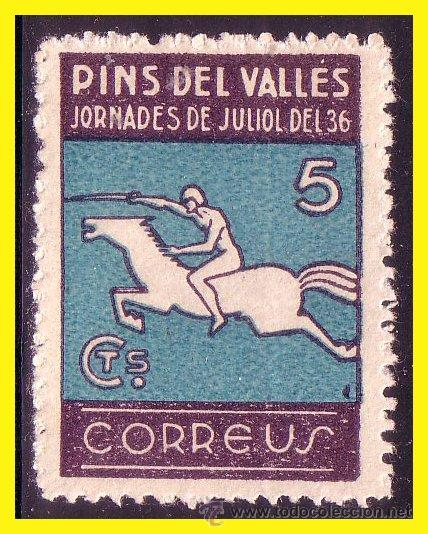 GUERRA CIVIL, BARCELONA PINS DEL VALLÉS, FESOFI Nº 16 * (Sellos - España - Guerra Civil - De 1.936 a 1.939 - Nuevos)