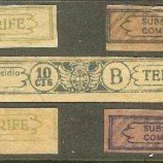 Sellos: FISCALES. TENERIFE. ARBITRIO SUBSIDIO. 5 VALORES DIFERENTES. 1936. Lote 47653475