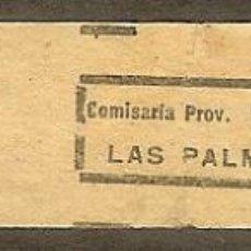 Sellos: FISCALES. LAS PALMAS. IMPUESTO SOBRE EL TABACO. SUBSIDIOS 1936/39. Lote 47686359
