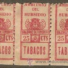 Sellos: FISCALES. TENERIFE. IMPUESTO TABACO. ARBITRIO DEL SUBSIDIO 1936. Lote 47686802