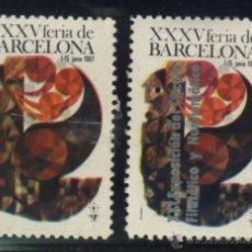 Sellos: S-2727- XXXV FERIA DE BARCELONA. XXI EXPOSICION DEL CIRCULO FILATELICO. 1967. Lote 23245002