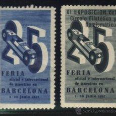 Sellos: S-5166- VIÑETA. BARCELONA. 25 FERIA OFICIAL DE MUESTRAS. XI EXPOSICION DEL CIRCULO FILATELICO (1957). Lote 32694628