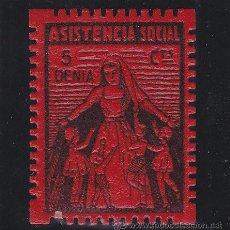 Sellos: DENIA ( ALICANTE ) ASISTENCIA SOCIAL 5 CTS NUEVO ** VIÑETA / LOCAL GUERRA CIVIL. Lote 48135072