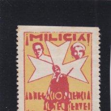 Sellos: REUS ( TARRAGONA ) MILICIA ASISTENCIA SOCIAL 5 CTS NUEVO (*) VIÑETA / LOCAL GUERRA CIVIL. Lote 48201981