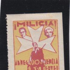 Sellos: REUS ( TARRAGONA ) MILICIA ASISTENCIA SOCIAL 5 CTS NUEVO * VIÑETA / LOCAL GUERRA CIVIL. Lote 48201993
