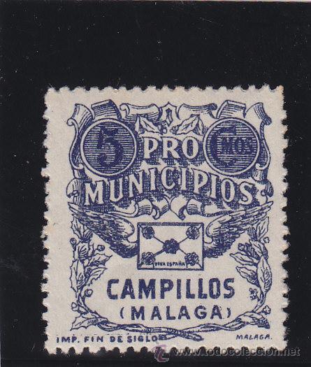 CAMPILLOS ( MÁLAGA ) PRO MUNICIPIOS 5 CTS . NUEVO ** VIÑETA / LOCAL GUERRA CIVIL (Sellos - España - Guerra Civil - De 1.936 a 1.939 - Nuevos)