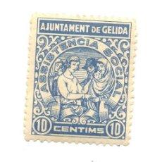 Sellos: 10 CÉNTIMOS AJUNTAMENT DE GELIDA BARCELONA ASISTENCIA SOCIAL. Lote 48400591