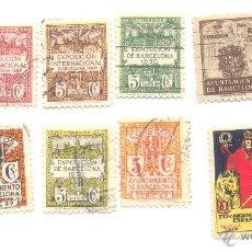 Sellos: 12 SELLOS AJUNTAMENT DE BARCELONA Y EXPOSICIÓN BARCELONA 1929-1930 A CLASIFICAR.. Lote 48400714