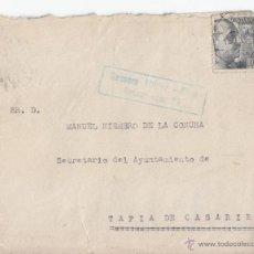 Sellos: SOBRE CON CENSURA Y AMBULANTE GIJÓN. 1941. CONSERVA LA CARTA. ASTURIAS. Lote 48568660