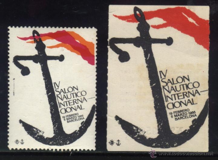S-0011- BARCELONA 1966. IV SALON NAUTICO INTERNACIONAL. SELLO OFICIAL + PARTICIPACIÓN EN SORTEO (Sellos - España - Guerra Civil - Viñetas - Nuevos)