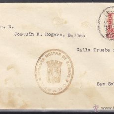Sellos: CARTA CENSURA MILITAR BURGOS VISADO 1937 DEST SAN SEBASTIAN - JOAQUIN M. ROGER DELEGADO REQUETES . Lote 48661536