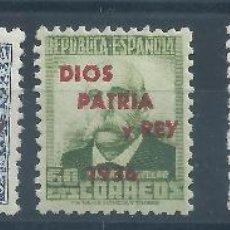Sellos: R3/ / ESPAÑA, S. SEBASTIAN, PATRIOTICOS, CAT. 25€, NUEVOS** S/F. Lote 48685134