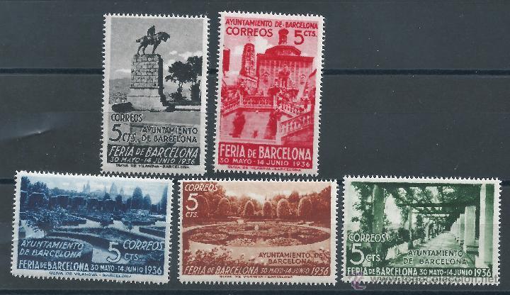 R7.G2 / BARCELONA 1936, FERIA DE MUESTRAS, CAT. 23,5€, NUEVOS** S/F (Sellos - España - Guerra Civil - De 1.936 a 1.939 - Nuevos)