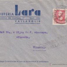 Sellos: CARTA MEMBRETE LIBRERIA LARA - CENSURA MILITAR VALLADOLID 1938 / DEST VITORIA . Lote 48719702