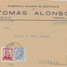 Sellos: FRONTAL DE CARTA MEMB FABRICA ALONSO TORDESILLAS VALLADOLID FRANQUEO MIXTO 685 - 49 ESPECIAL MOVIL. Lote 48720269