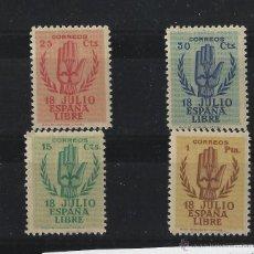 Sellos: AÑO 1938 Nº 851/54 SIN CHARNELA CENTRADOS LUJO CATALOGO 525€. Lote 48736423