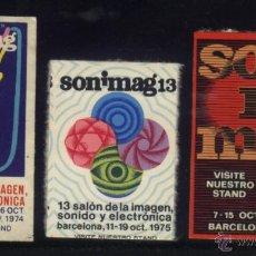 Timbres: S-6090- BARCELONA. SONIMAG 12, 13 Y 16. 1974, 1975 Y 1978. Lote 39248458