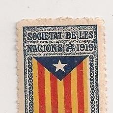 Sellos: ESTELADA EN SEGELL DE L' ANY 1919 ESTAT CATALA CATALUNYA LLIURE VINYETA CATALANISTA INDEPENDENTISTA . Lote 98248871
