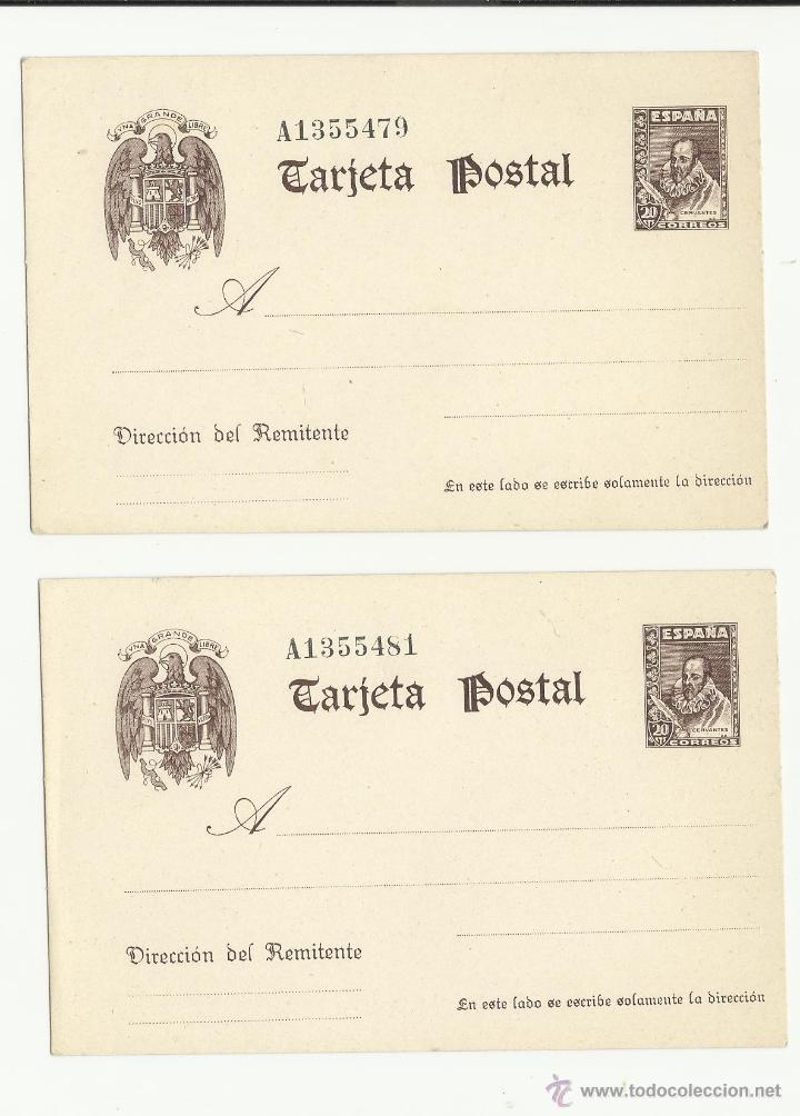 Sellos: 1938/1940 TEMA CERVANTES GRAN TARJETA Nº 83 NUEVA NUEVA PERFECTA - Foto 2 - 27439959