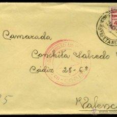 Sellos: SOBRE CIRCULADO - CUÑO COMISARIO DE LA 113 BRIGª MIXTA SANIDAD MILITAR Y CORREO CAMPAÑA ESTAFETA 71. Lote 49215452
