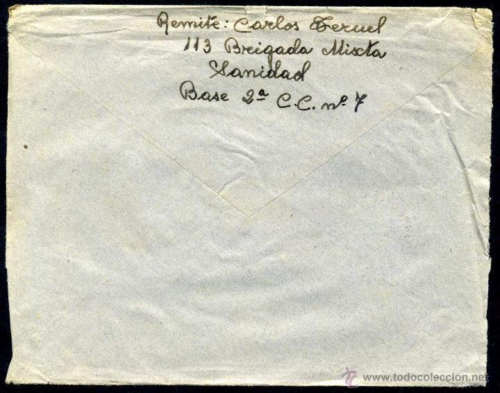 Sellos: SOBRE CIRCULADO - CORREO DE CAMPAÑA ESTAFETA Nº 71 - 1938 - Foto 2 - 49242790