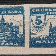 Sellos: MALLORCA. CRUZADA CONTRA EL PARO. PAREJA S/D . 5 CTS. .**...MNH. Lote 49479845