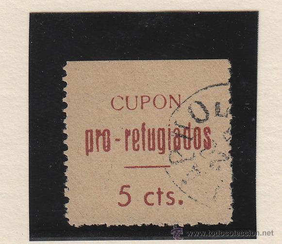 LORCA ( MURCIA ) CUPON PRO REFUGIADOS . 5 CTS VIÑETA / LOCAL GUERRA CIVIL (Sellos - España - Guerra Civil - De 1.936 a 1.939 - Nuevos)