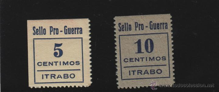 ITRABO ( GRANADA ) SELLO PRO - GUERRA 5 Y 10 CTS NUEVO ** VIÑETA / LOCAL GUERRA CIVIL (Sellos - España - Guerra Civil - De 1.936 a 1.939 - Nuevos)