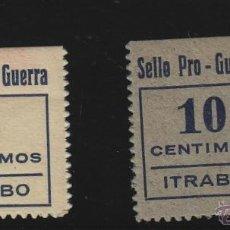 Sellos: ITRABO ( GRANADA ) SELLO PRO - GUERRA 5 Y 10 CTS NUEVO ** VIÑETA / LOCAL GUERRA CIVIL. Lote 49489067