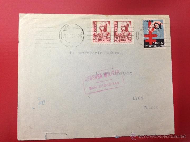CENSURA MILITAR CIUDAD RODRIGO 1938 (Sellos - España - Guerra Civil - De 1.936 a 1.939 - Cartas)