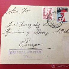 Sellos: CARTA CENSURA MILITAR CORTEGANA 1937 A BURGOS. Lote 49885460