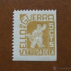 Sellos: SELLO DE LA GUERRA , 5 CENTIMOS , CIUDADELA. Lote 49901139