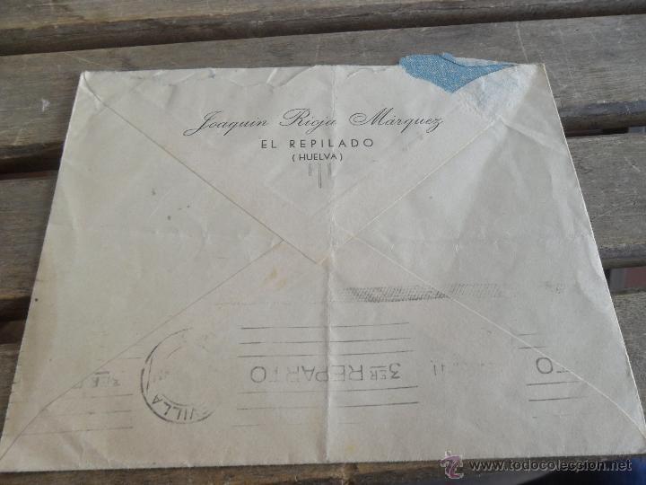 Sellos: SOBRE CARTA CIRCULADA CENSURA MILITAR ARACENA SEVILLA - Foto 2 - 50114475