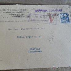 Sellos: SOBRE CARTA CIRCULADA SOLO FRONTAL SEVILLA CENSURA MILITAR. Lote 50114491