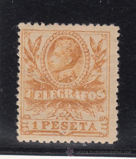 ,,TELEGRAFOS 44 CON CHARNELA, ALFONSO XIII (Sellos - España - Guerra Civil - Beneficencia)