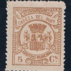 Sellos: CABEZA DEL BUEY (BADAJOZ) 5 CTS CASTAÑO. Lote 50338768