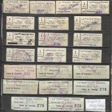 Sellos: 7096-COLECCION LOTE CUOTAS LA PREVISION OBRERA,1935-1954.CATALAN Y CASTELLANO.ALGUNOS CON SOBRECARGA. Lote 50347126
