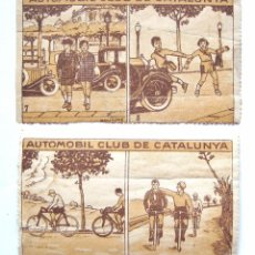 Sellos: LOTE 2 SELLOS VIÑETAS AUTOMOBIL (AUTOMOVIL) CLUB DE CATALUNYA (CATALUÑA) POR MALLAFRÉ AÑOS 30. Lote 50357011