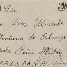 Sellos: CARTA FRANQUEADA CON ESPECIAL MOVIL ( TASA INTERIOR ) EN G. C BANDO NACIONAL MAT PILAS (SEVILLA ) . Lote 50410975