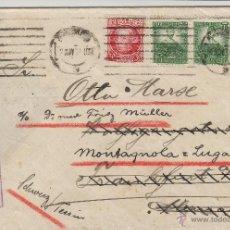 Sellos: CARTA BARCELONA / ALEMANIA CENSURA REPUBLICA 1936 REEXPEDIDA A SUIZA CON MAT LLEGADA Nº 682(2) 687. Lote 50411227