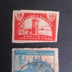 Sellos: PALMA DE MALLORCA. CRUZADA CONTRA EL PARO.. Lote 50465771