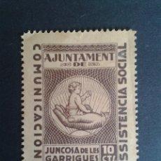 Timbres: VIÑETA DEL AYUNTAMIENTO DE JUNCOSA DE LES GARRIGUES. LLEIDA. GUERRA CIVIL.. Lote 50465813