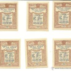 Sellos: LOTE DE SEIS SELLOS DE SAN FERMÍN - PAMPLONA, 1924. Lote 58534406