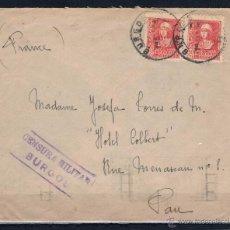 Sellos: 1938.- BURGOS A PAU (FRANCIA). Lote 50604348