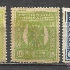 Sellos: 8181-3 SELLOS ESPAÑA GUERRA CIVIL FALANGE ESPAÑOLA JONS PARA EL FRENTE,ZARAGOZA,1937.JUNTA OFENSIV. Lote 50711539