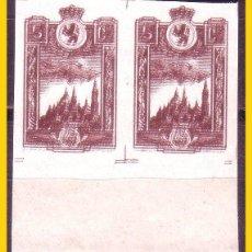 Selos: ZARAGOZA, GUERRA CIVIL FESOFI B2 Nº 13D * * VARIEDAD, DOBLE IMPRESIÓN. Lote 50808328