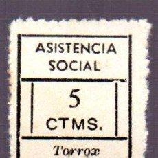 Sellos: SELLO ASISTENCIA SOCIAL 5 CENTIMOS. TORROX. Lote 50948331