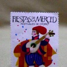 Sellos: VIÑETA, FIESTAS DE LA MERCED, 1967. Lote 51020917