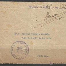 Sellos: Q164-CARTA FRANQUICIA GUERRA CIVIL ESTAFETA SERVICIO NACIONAL TELECOMUNICACIÓN.DEP. Lote 51056554